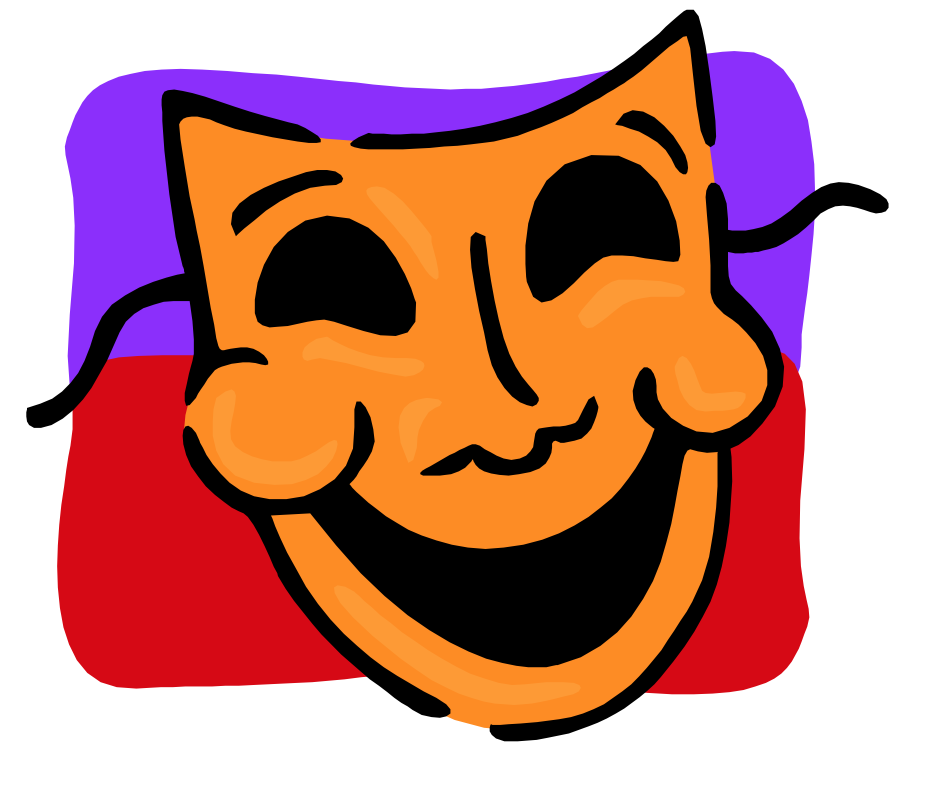 bild på teatermask